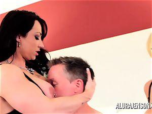 Alura Jenson milf three-way boink with Brandi May
