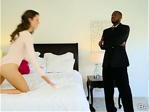 big black cock craving Ally Tate super-steamy interracial poon tear up