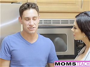 MomsTeachSex - very first Time 3some Is With Step mummy