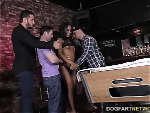 Ashley rosy gets gangbanged on a pool table