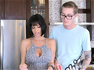 mischievous mommy Veronica Avluv humping her sons crazy acquaintance