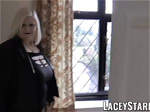 LACEYSTARR - Mature English stunner humped and facialized