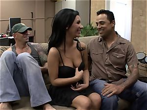 Darcy Tyler is plunged as her husband films it