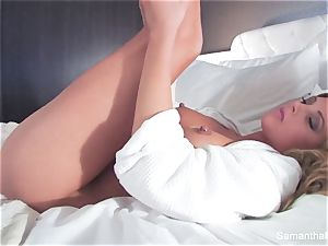 A scorching hotel room shag session with Samantha Saint
