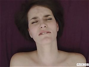 amateur dame Reaches Her first gash ejaculation