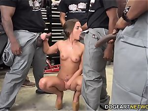 Amirah Adara fellates An entire crew Of dark-hued folks