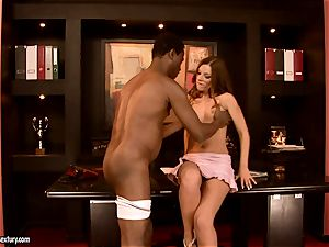 innocent gal Debbie white is punctured in the mouth with old guy trouser snake