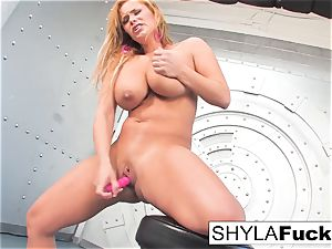 Shyla gives you a handsome strip and solo