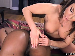 massive butt ebony gets arse packed with juices