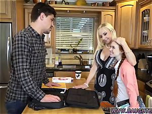 blond mom and counterpart s daughter-in-law 3some first time Dolly lil' is in need of some