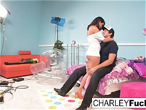 Charley haunt has some joy in this crazy threesome