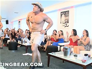 CFNM hotel party with meaty hard-on masculine Strippers