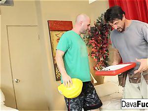 Dava and Ava bang their handymen