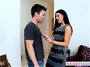 unbelievable India Summer in tights inhales bone