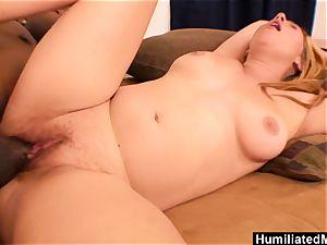 HumiliatedMilfs - giant ebony sausage and blond