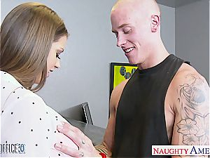 brown haired queen Brooklyn chase smashed supreme by her man