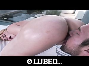 lubed shower bang with dousing wet Skyla Novea