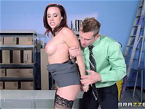 Chanel Preston pulverizes her magnificent man at work