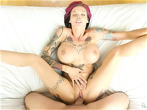 tatted emo mummy Anna Bell Peaks has super-steamy voluptuous lovemaking with her neighbor