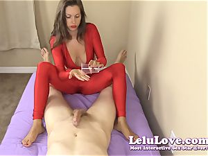 clad gal gives you hj and footjob
