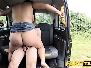 faux taxi Thai masseuse with immense milk cans works her magic