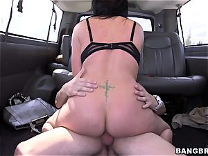 Isabella Madison ravages a stranger on a bus