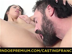 casting FRANCAIS - first-timer sweetie nailed and cum caked
