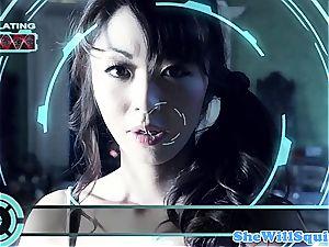 japanese pornography star Marica Hase gets a bath facial