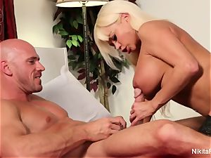Nikita fellates and penetrates his rock-hard man sausage
