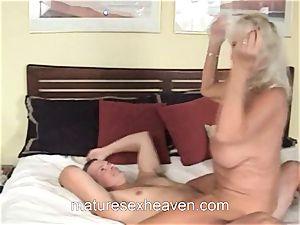 grandma Getting Laid While Her husband watches