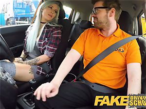 faux Driving college huge-chested goth learner in anal invasion and fucktoys