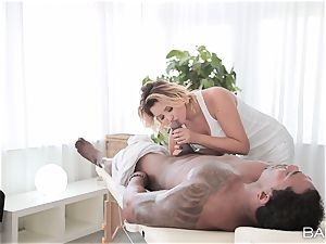 Anna Polina takes on draped big black cock deep in her steamy cootchie