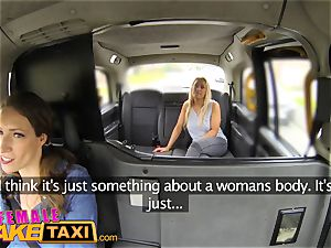 lady faux taxi huge-titted blonde in girl-on-girl sexual anal