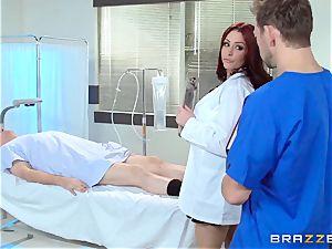 sexy doc Monique Alexander pummels her trainee