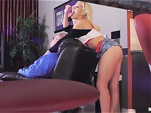 insatiable Cristi Ann pounded deep in her coochie and her daddy is sleeping beside her