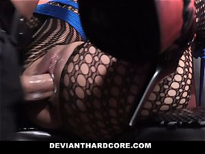 DeviantHardcore ultra-kinky chinese Gets cock-squeezing poon whipping