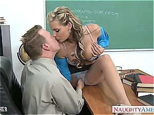 huge-chested stunner Phoenix Marie gets butt romped in classroom