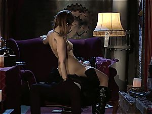 Dani Daniels implementing cogs and dicks in her steampung desire