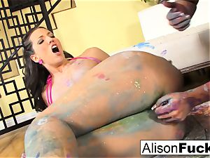 Painted lesbos with Alison and Kelly Divine
