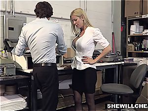SheWillCheat - huge-titted cougar chief smashes fresh employee