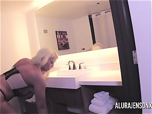 large knocker blondie Alura Jenson tearing up a jumpy client