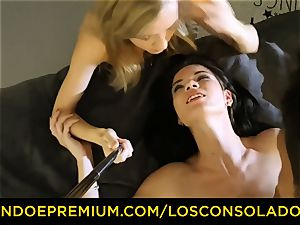 LOS CONSOLADORES - sloppy stunners have kinky 3some intercourse