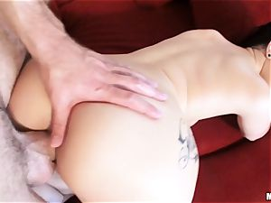 freshly wed Katrina Jade is lubricated up and smashed by her fresh hubby