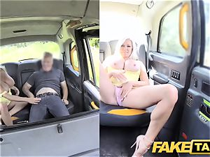 fake cab big knockers light-haired Michelle Thorne