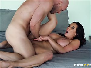 Kendra eagerness beaten after steaming massage