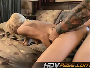 light-haired Monique Alexander shag and cum-shot
