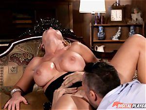 ultra-kinky Nikki Benz guzzles down a enormous boner