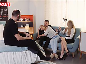 LETSDOEIT - super-naughty light-haired Gets Gelp To jizz From couple