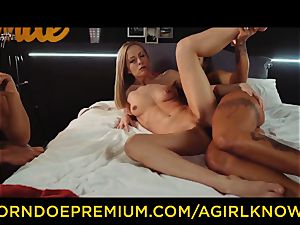 A nymph KNOWS - Susy Gala penetrates super hot girl-on-girl with belt cock