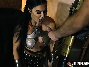 naughty warrior Jasmine Jae assfuck hammered by a gladiator